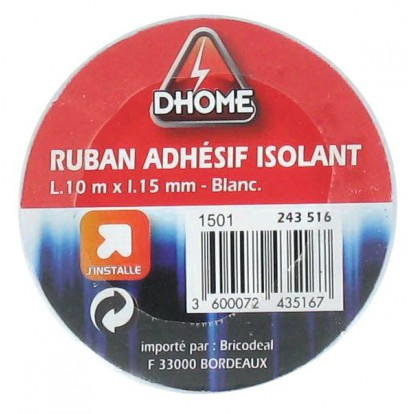 Ruban adhésif isolant Dhome - Blanc