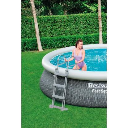 Echelle pour piscine Bestway - Pour piscine hauteur 107 cm - 2 x 3 marches