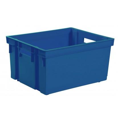 Bac de rangement Eda - Sans couvercle - Bleu minéral - 50 l