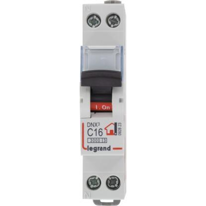 Disjoncteur DNX type C Legrand - Unipolaire + neutre - Intensité 16 A