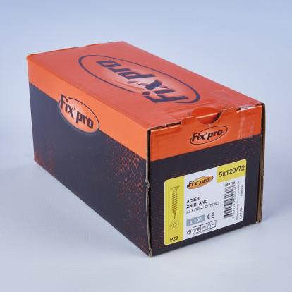 Vis à bois tête fraisée PZ - 5x120/72 - 100pces - Fixpro