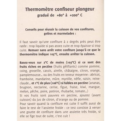 Thermomètre confiseur sous gaine Comptoir Conserve - De 80 à 200 °C
