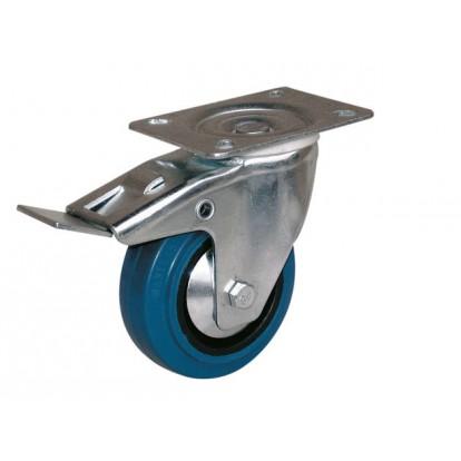 Roulette Port-roll Manulastic pivotante à frein Guitel point M - Diamètre 100 mm