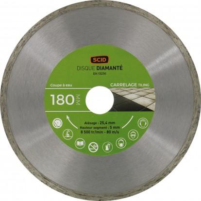 Disque diamanté carreleur bricolage SCID - Diamètre 180 mm