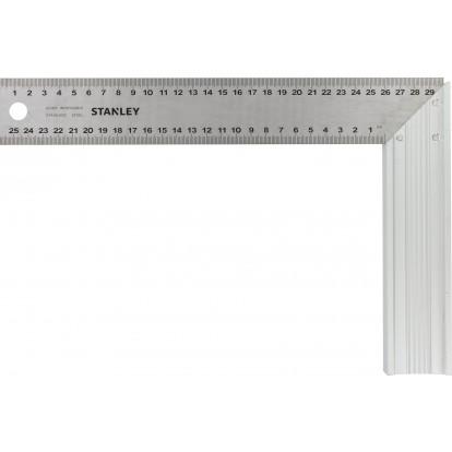 Equerre menuisier lame inox Stanley - Longueur 300 mm - Largeur 200 mm