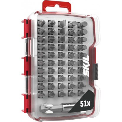 Set de 51 pièces d'embouts de vissage Skil - 5 types d'embouts