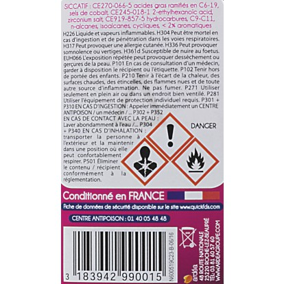 Siccatif sans plomb Onyx - Bouteille 190 ml