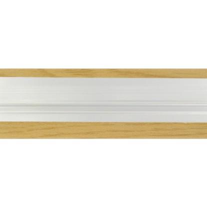 Bande de seuil aluminium plaxe couleur Dinac - Chêne - Longueur 0,93 m