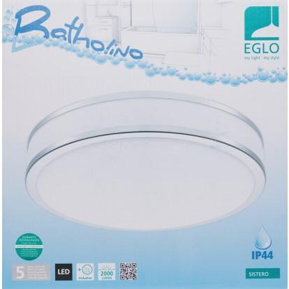 Plafonnier LED Sistéro Eglo - Blanc et chrome
