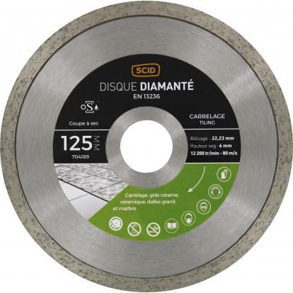 Disque diamanté grés cérame et carrelage SCID - Diamètre 125 mm