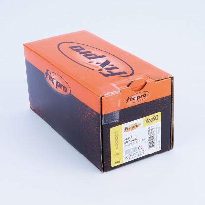 Vis à bois tête fraisée PZ - 4x60 - 250pces - Fixpro