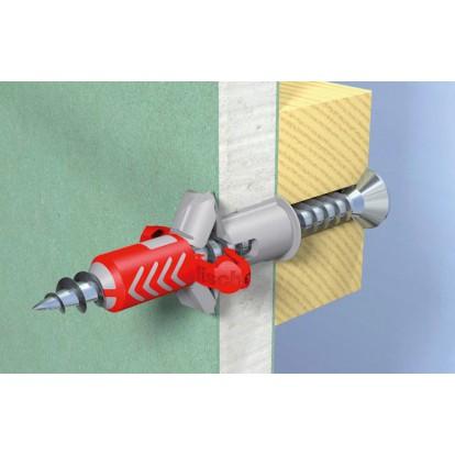 Cheville bi-matière Duopower avec vis Fischer - Diamètre 6 mm - Vendu par 12