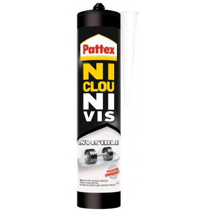 Ni clou ni vis invisible Pattex - Cartouche 310 ml