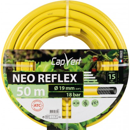 Tuyau d'arrosage Néo Reflex Cap Vert - Diamètre 19 mm - Longueur 50 m