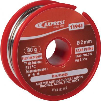 Soudure étain bobine Express - Tout usage - 80 g
