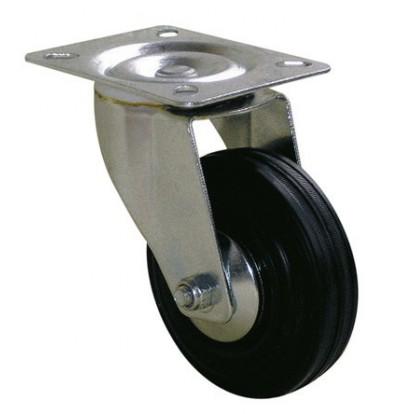 Roulette Port-roll Manutal pivotante Guitel point M - Diamètre 80 mm