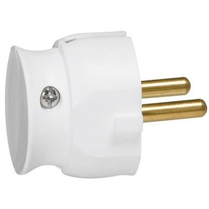 Fiche plastique extra-plate 2P-16 A Legrand - Mâle - Blanc