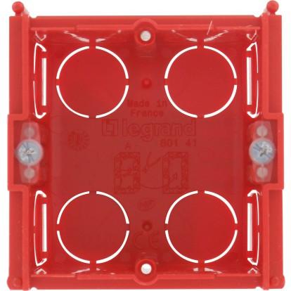 Boîte maçonnerie Legrand - 1 poste carrée - Profondeur 40 mm