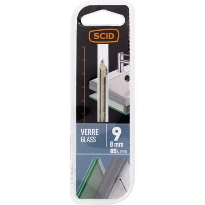 Foret à verre SCID - Longueur 75 mm - Diamètre 9 mm
