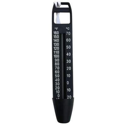 Thermomètre de piscine grand modèle Aqualux - Noir