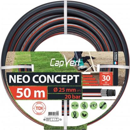 Tuyau d'arrosage Néo Concept Cap Vert - Diamètre 25 mm - Longueur 50 m