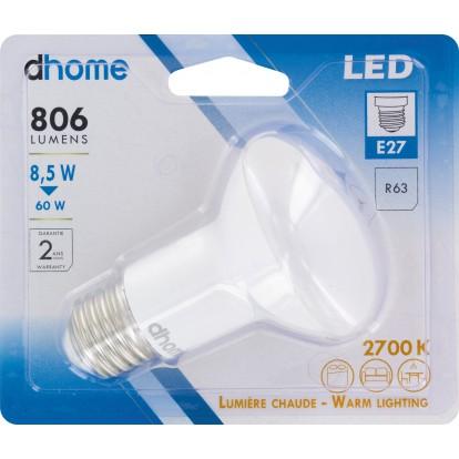 Ampoule LED R63 E27 dhome - 806 Lumens - 8,5 W - 2700 K