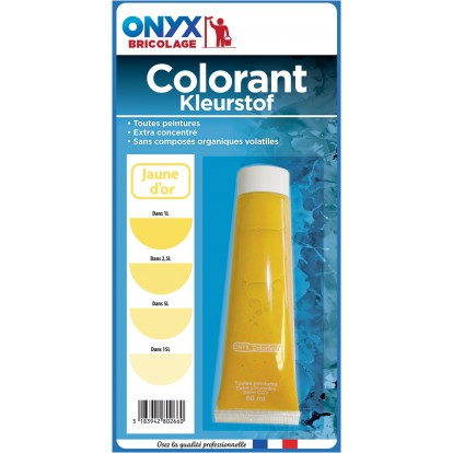 Colorant universel 60 ml Onyx - Jaune or