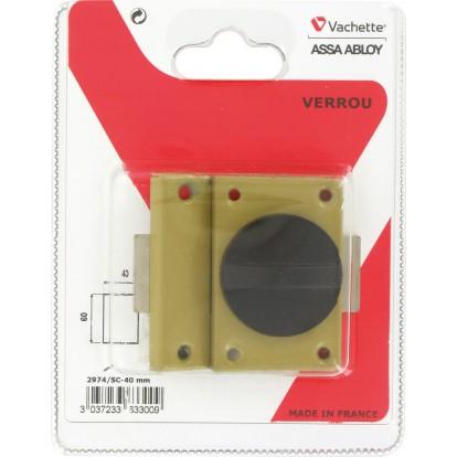 Verrou automatique verni Vachette - Longueur 40 mm