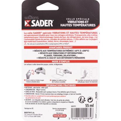 Colle vibration et haute température Sader - Tube 55 ml