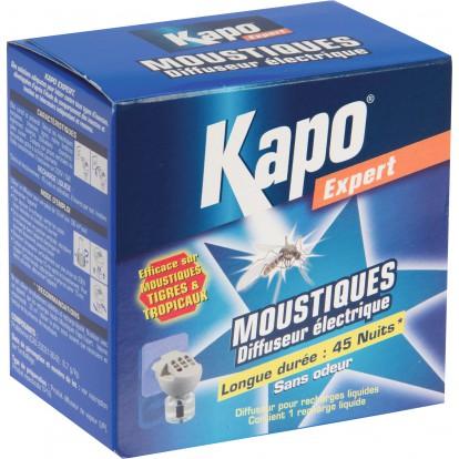 Moustiques émanateur électrique Kapo Expert - Diffuseur + 1 recharge liquide