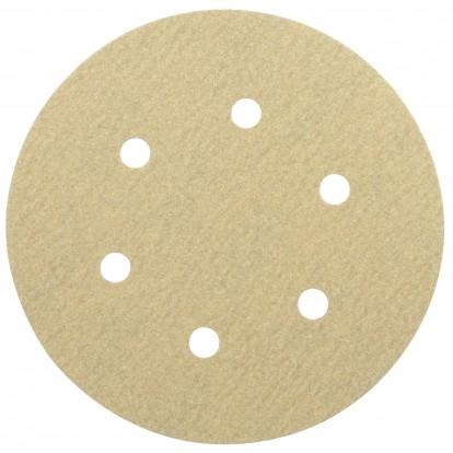Disque auto-agrippant diamètre 150 mm 6 trous SCID - Grain 80 - Diamètre 150 mm - Vendu par 5