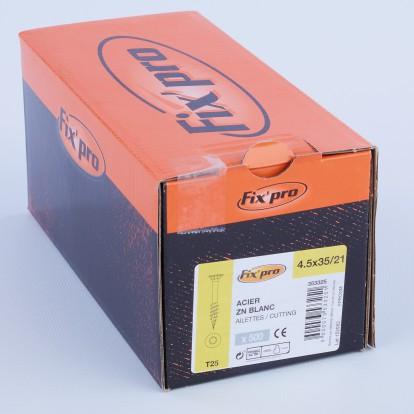 Vis à bois tête fraisée TX - 4,5x35/21 - 500pces - Fixpro