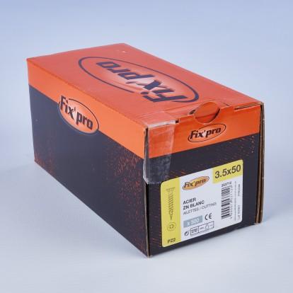 Vis à bois tête fraisée PZ - 3,5x50 - 500pces - Fixpro