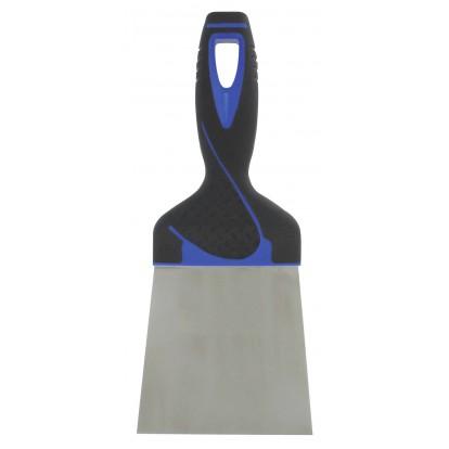 Couteau à enduire inox - Manche bi-matière Outibat - Dimensions 10 cm