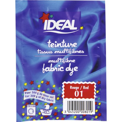 Teinture Tissu Main Machine Ideal Sachet 15 G Rouge N
