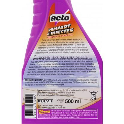 Pulvérisateur rempart à insectes volants et rampants Acto - 500 ml