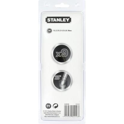 Jeu de clés mâles à tête sphérique Stanley - 9 clés - 1,5 à 10 mm