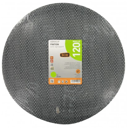 Disque maille auto-agrippant diamètre 225 mm SCID - Grain 120 - Vendu par 3