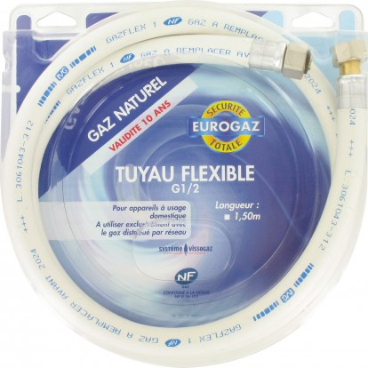 Flexible gaz naturel Eurogaz - Longueur 1,5 m