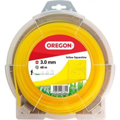 Fil carré pour débroussaillage nylon Oregon - Longueur 48 m - Diamètre 3 mm