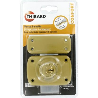 Verrou de sureté à cylindre double série Mirage Thirard - Dimensions 45 mm