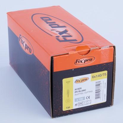 Vis à bois tête fraisée TX - 6x140/75 - 100pces - Fixpro