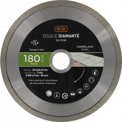 Disque diamanté carreleur expert SCID - Diamètre 180 mm