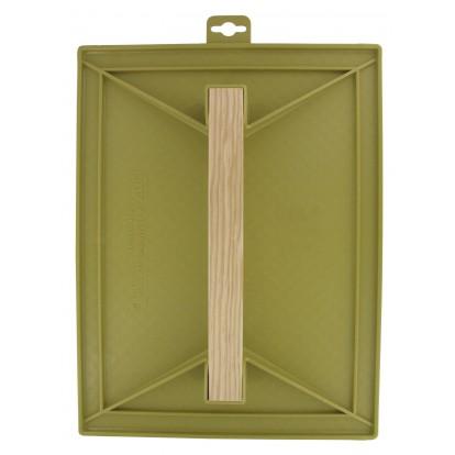 Taloche plastique ABS jaune rectangulaire Outibat - Dimensions 18 x 27 cm
