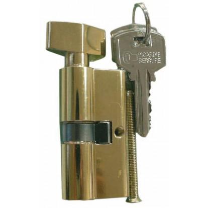 Cylindre de sureté double à bouton Carmine - Dimensions 30 x 30 mm