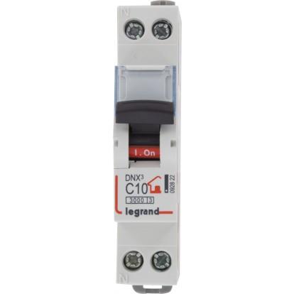 Disjoncteur DNX type C Legrand - Unipolaire + neutre - Intensité 10 A