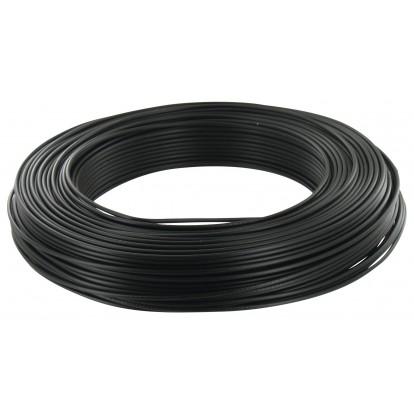 Fil H07 V-U 1,5 mm² - Couronne 100 m - Noir
