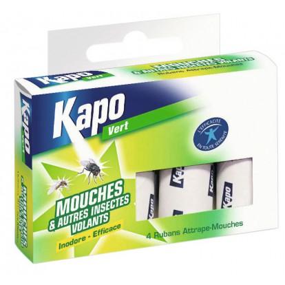 Mouches spirale glue Kapo Vert - 4 étuis