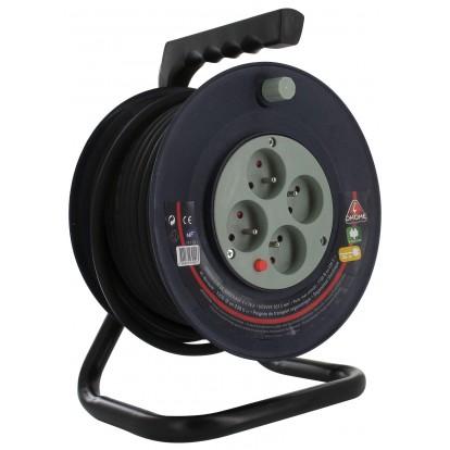 Enrouleur bricolage Dhome - H05 VV-F 3G 1,5 mm² - Longueur 40 m