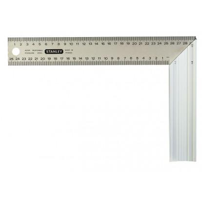 Equerre menuisier lame inox Stanley - Longueur 250 mm - Largeur 140 mm